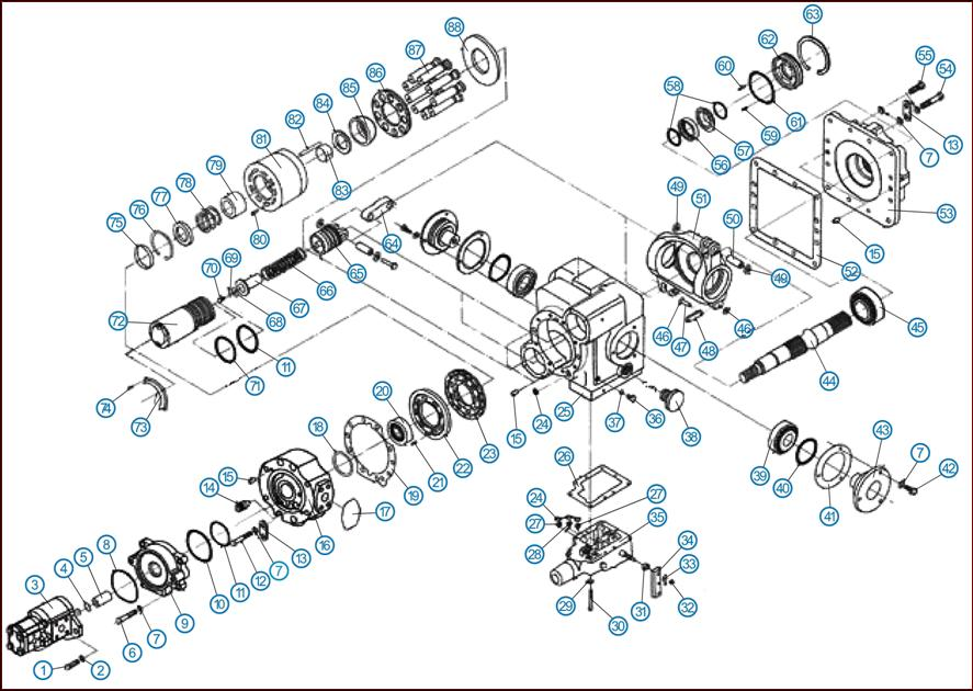 Структурная схема насоса
